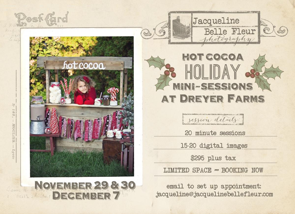 hot cocoa holiday mini sessions 2013
