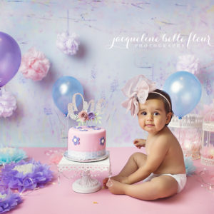 Sweet Alaia Isnt That A Beautiful Name Celebrated Her First Birthday With Lavender Fields And Flowers Cake Smash Although We Didnt Use Any Actual
