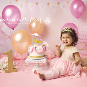 The Last Of Summers Cake Smashes I Have To Share With You Is This Carousel 1st Birthday Smash For Little Alisha Absolutely Love Pink And